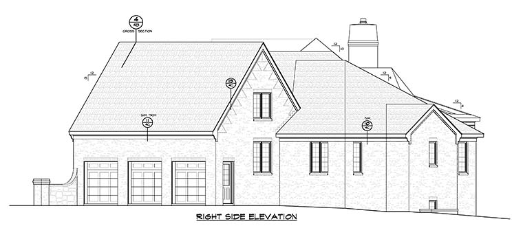 French Country Traditional House Plan 66786