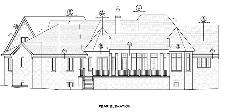 French Country Traditional House Plan 66786 Rear Elevation