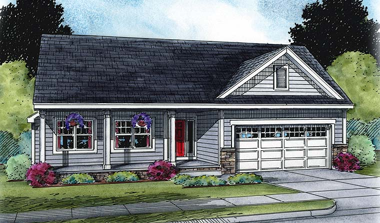 Ranch Traditional House Plan 66790 Elevation