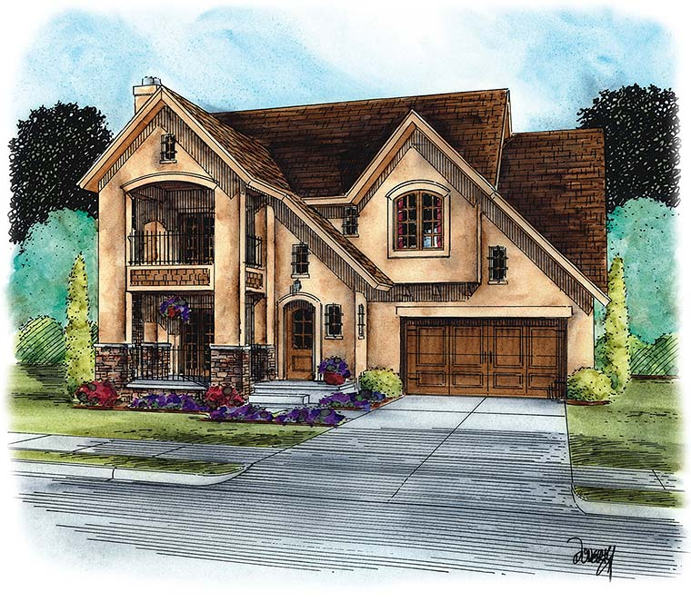 European French Country House Plan 66791 Elevation
