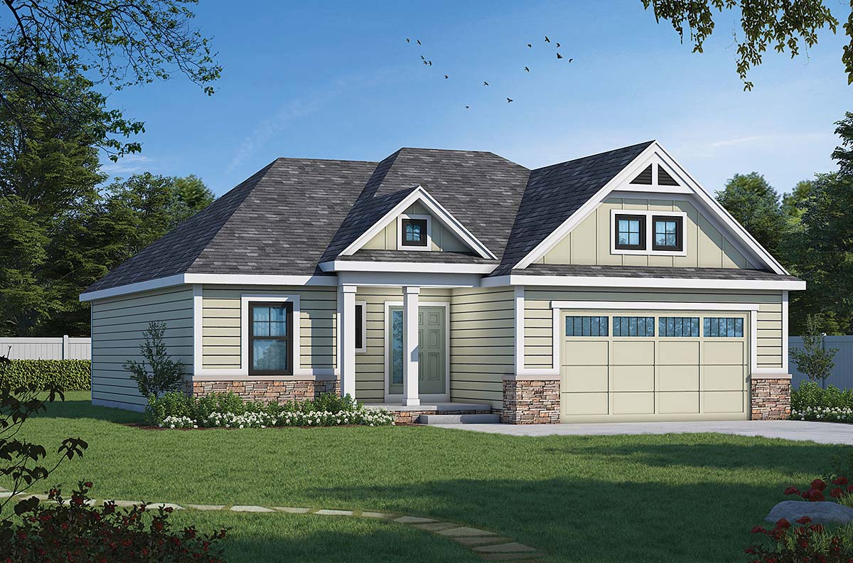 Ranch Traditional House Plan 66793 Elevation