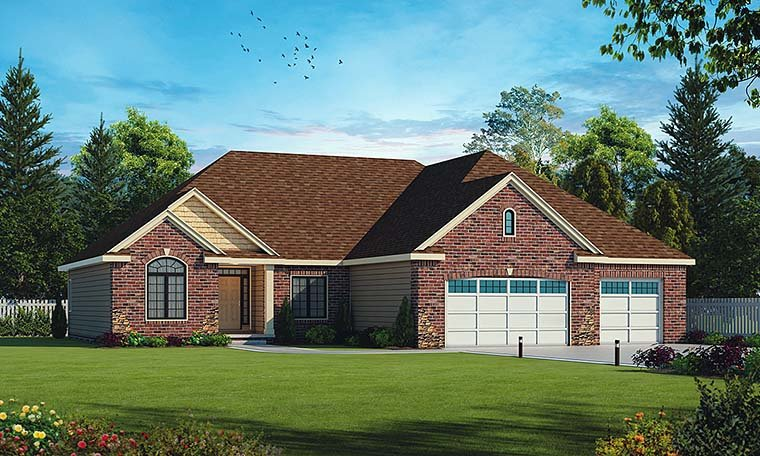 Ranch Traditional House Plan 66795 Elevation