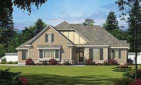 Cottage Craftsman French Country Tudor House Plan 66797 Elevation