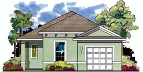 Florida House Plan 66800 Elevation