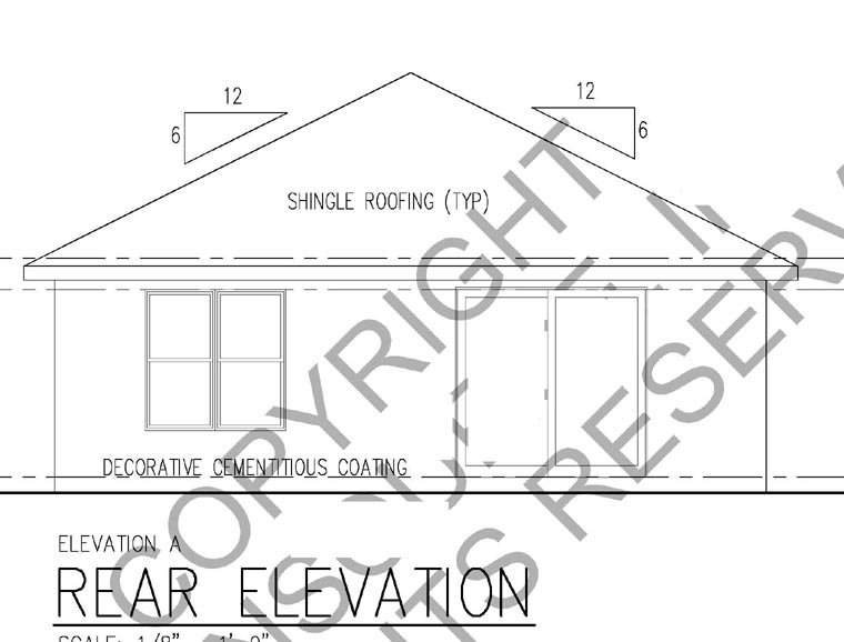 Florida House Plan 66800 Rear Elevation