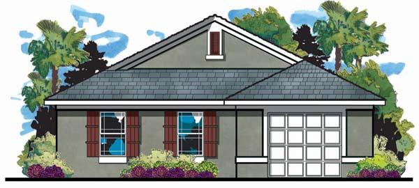 Florida Mediterranean House Plan 66801 Elevation