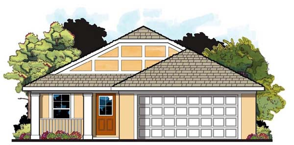 Florida House Plan 66803 Elevation