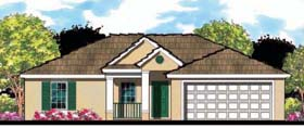 Florida Ranch House Plan 66804 Elevation