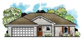 Plan Number 66805 - 1309 Square Feet