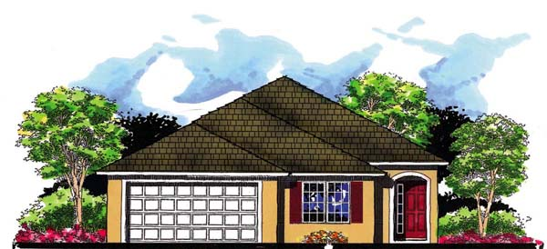 Florida House Plan 66806 Elevation