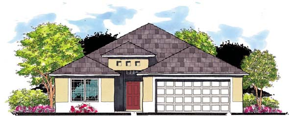 Florida House Plan 66808 Elevation