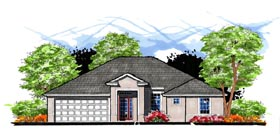 Contemporary Florida House Plan 66810 Elevation