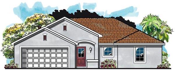 Cottage Craftsman Florida Ranch House Plan 66811 Elevation