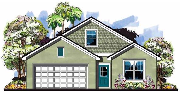 Cottage Craftsman Florida House Plan 66815 Elevation