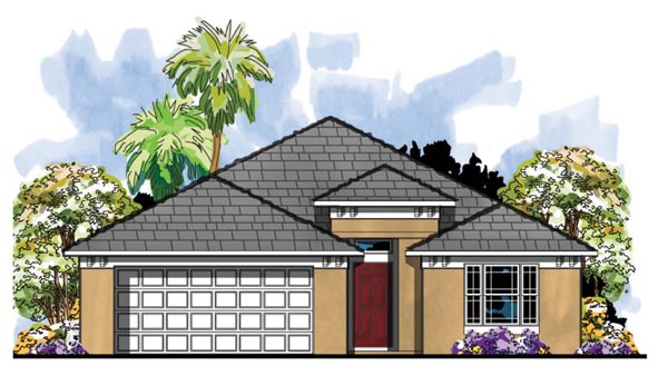 Contemporary Florida House Plan 66817 Elevation
