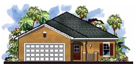 Cottage , Craftsman , Florida House Plan 66818 with 3 Beds, 2 Baths, 2 Car Garage Elevation