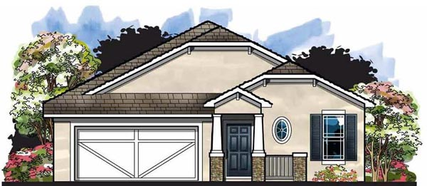 Cottage , Craftsman , Florida House Plan 66819 with 3 Beds, 2 Baths, 2 Car Garage Elevation