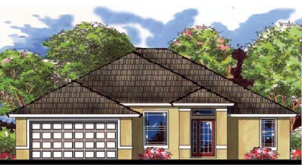 Contemporary Florida Traditional House Plan 66822 Elevation
