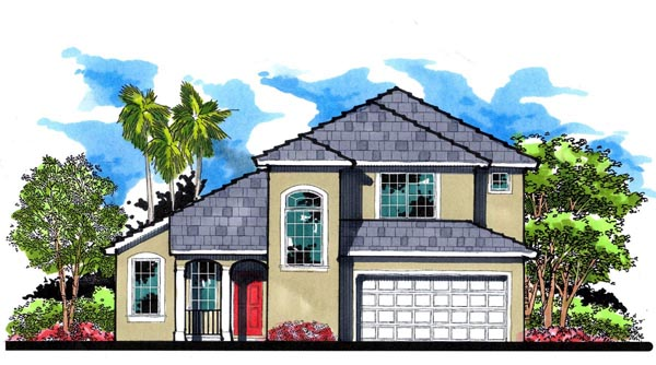 Florida Traditional House Plan 66823 Elevation