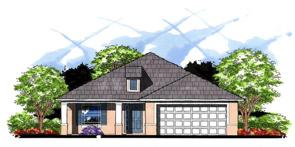 Florida Traditional House Plan 66825 Elevation