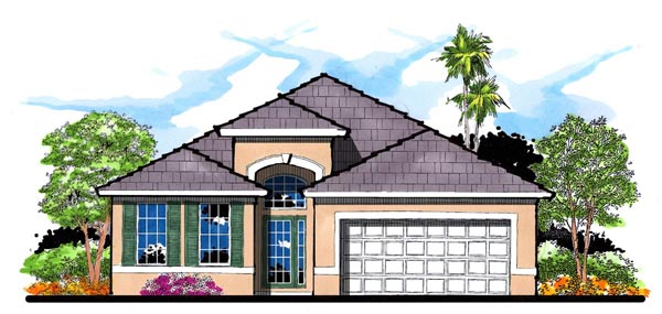 Florida Traditional House Plan 66826 Elevation