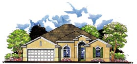 Florida , Traditional House Plan 66828 with 3 Beds, 2 Baths, 3 Car Garage Elevation