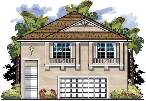 Coastal Florida House Plan 66829 Elevation