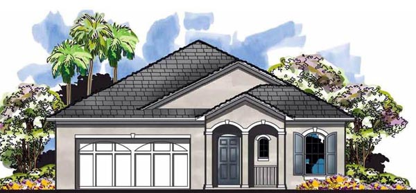 Cottage Craftsman Florida House Plan 66833 Elevation