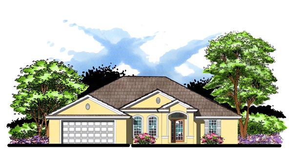Florida Ranch Traditional House Plan 66834 Elevation
