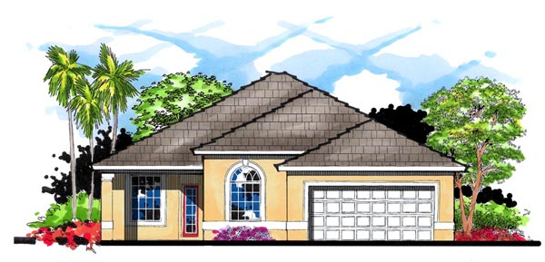 Florida Traditional House Plan 66838 Elevation