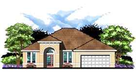 Florida Ranch Traditional House Plan 66840 Elevation