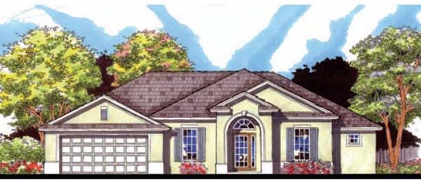 Florida Ranch Traditional House Plan 66841 Elevation