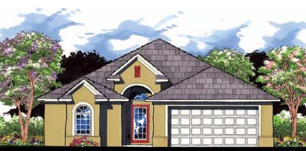 Florida Traditional House Plan 66844 Elevation