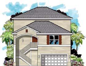 Coastal Contemporary Florida House Plan 66845 Elevation