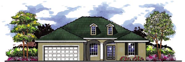 Country Florida Ranch House Plan 66848 Elevation