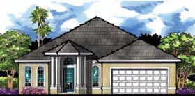 Florida Traditional House Plan 66849 Elevation