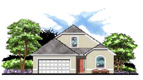 Contemporary Cottage Florida House Plan 66850 Elevation