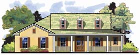 Country Florida Ranch Traditional House Plan 66852 Elevation