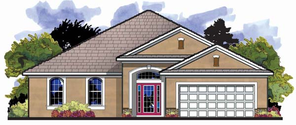 Florida Ranch Traditional House Plan 66853 Elevation