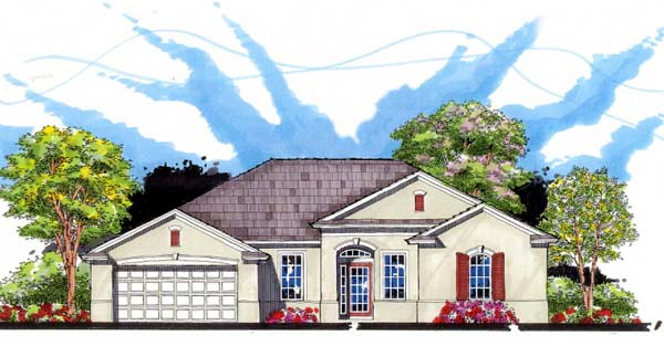 Florida Ranch Traditional House Plan 66854 Elevation