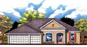 Florida Ranch Traditional House Plan 66855 Elevation