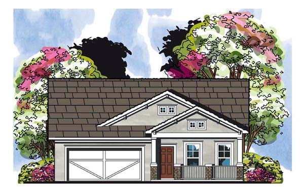 Cottage Craftsman Florida House Plan 66856 Elevation
