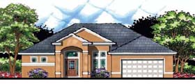 House Plan 66858 | Contemporary Florida Ranch Style Plan with 2282 Sq Ft, 4 Bedrooms, 2 Bathrooms, 2 Car Garage Elevation