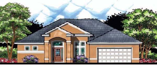 Contemporary Florida Ranch House Plan 66858 Elevation
