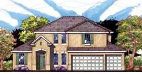 Traditional , Florida , Contemporary House Plan 66860 with 4 Beds, 3 Baths, 3 Car Garage Elevation