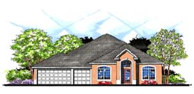 Contemporary Florida Ranch Traditional House Plan 66861 Elevation