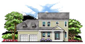 Colonial Florida Traditional House Plan 66864 Elevation