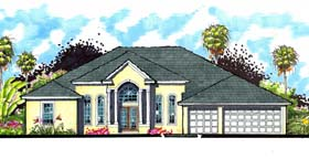 Traditional , Ranch , Florida House Plan 66872 with 4 Beds, 3 Baths, 3 Car Garage Elevation