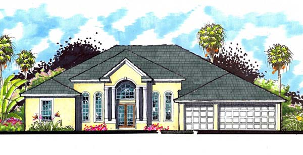 Florida Ranch Traditional House Plan 66872 Elevation