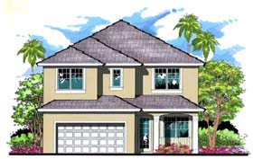 Florida Traditional House Plan 66873 Elevation
